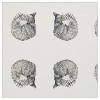 Polka Cats Fabric