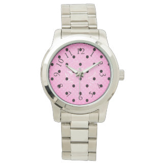 Polka Crab*_Series_Pink -Black_Faded Center Crab Watch