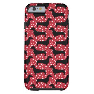Polka Dachsund Tough iPhone 6 Case