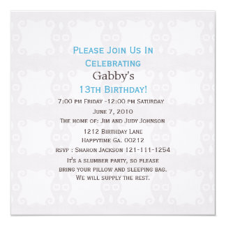 Polka Dot: 13th Birthday Invitations