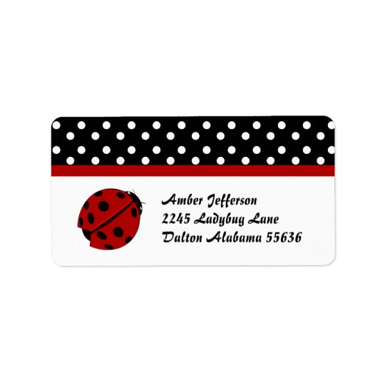 Polka Dot and Lady Bug Address Labels
