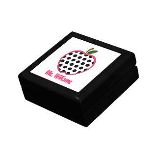 Polka Dot Apple Personalized Teacher Gift Box