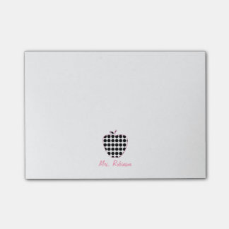 Polka Dot Apple Teacher Post-it Notes