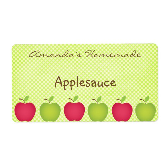 Polka Dot Apple Themed Canning Label Shipping Label