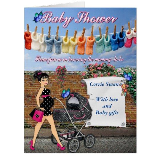 Polka dot Baby Shower Card