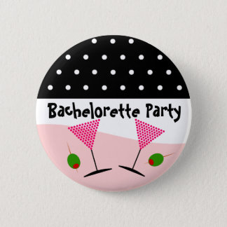 Polka Dot Bachelorette Party 2 Inch Round Button