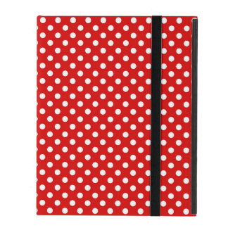Polka dot background iPad case