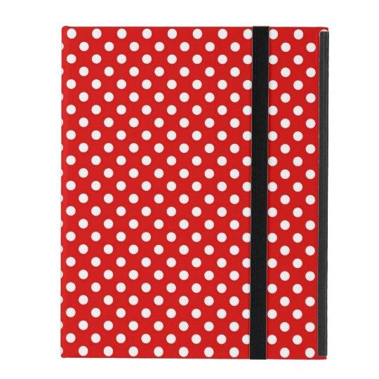Polka dot background iPad folio case