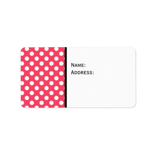 Polka Dot Background Label