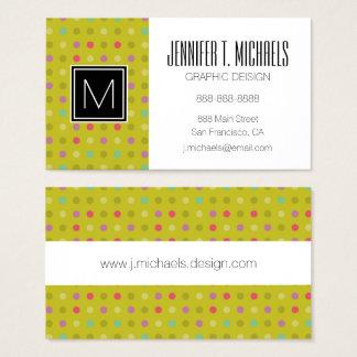 Polka-dot background pattern business card