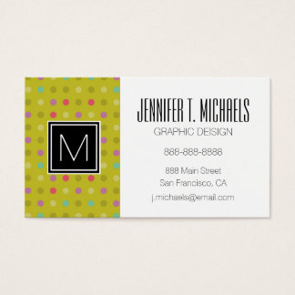 Polka-dot background pattern business card