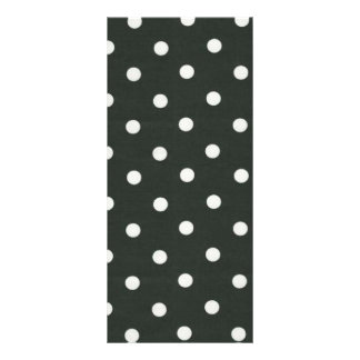 polka dot background rack card