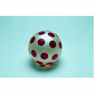 Polka dot ball toy for kids cut outs