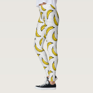 Polka Dot Banana Print Leggings