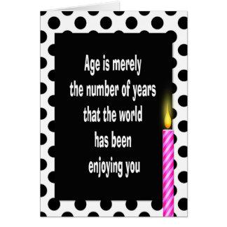 polka dot birthday quote card