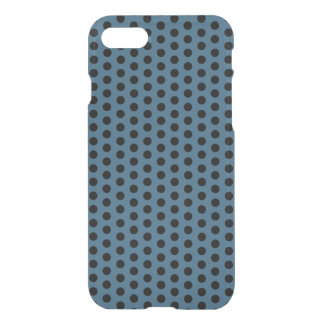 Polka Dot Black and Steel Blue Pattern iPhone Case