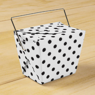 Polka Dot Black And White Wedding Party Favor Box