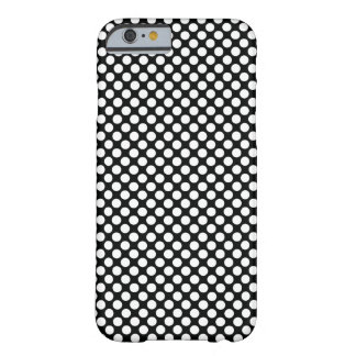 Polka Dot (Black & White) Any Size Customizable Barely There iPhone 6 Case
