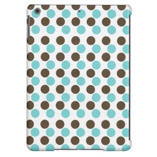 Polka dot blue brown dots iPad air case
