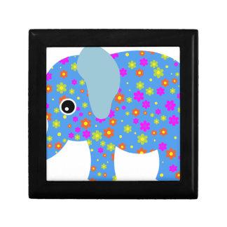 POLKA DOT BLUE ELEPHANT GIFT BOX