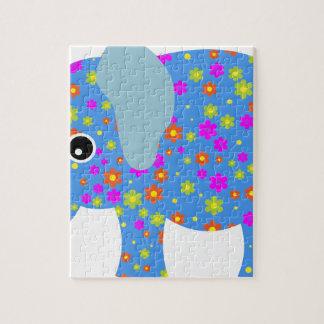 POLKA DOT BLUE ELEPHANT JIGSAW PUZZLE