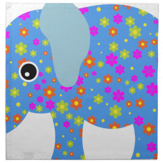 POLKA DOT BLUE ELEPHANT NAPKIN