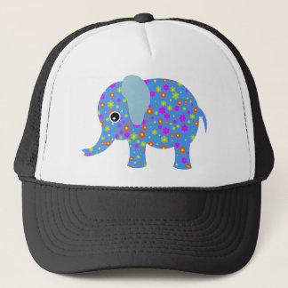 POLKA DOT BLUE ELEPHANT TRUCKER HAT