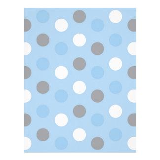 Polka Dot Blue Grey Baby Scrapbook Paper