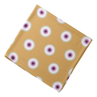 Polka Dot - Blue Violet Purple Lavender Yellow Bandana