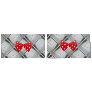 Polka dot bow pillowcase