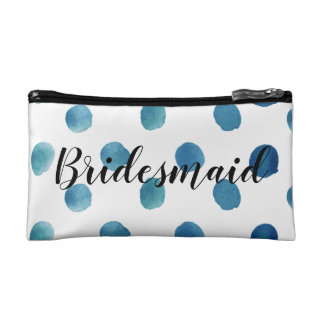 Polka dot bridesmaid makeup bag