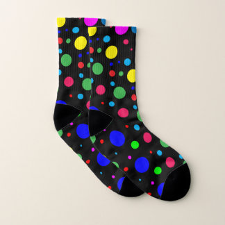 Polka Dot Bubble Balloons Pattern Socks 1