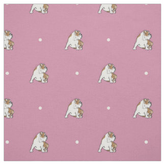 Polka Dot Bulldog Fabric