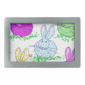 Polka dot bunnies belt buckle