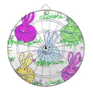 Polka dot bunnies dartboard