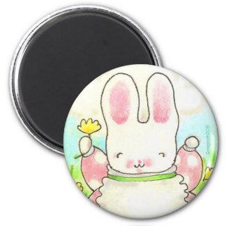 polka dot bunny magnet