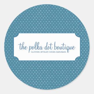 Polka Dot Business Stickers