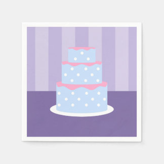 Polka Dot Cake Napkins Paper Napkin