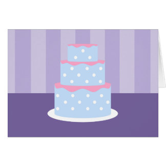 Polka Dot Cake Note Cards