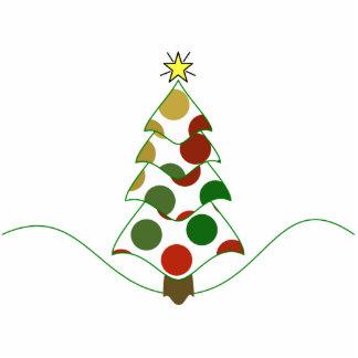 Polka Dot Christmas Tree Ornament Photo Cutouts