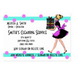Polka Dot Cleaning Service Business Cards