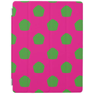 Polka dot cupcakes in pink and green iPad cover
