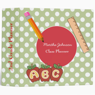 Polka Dot Custom Teacher's Class Planner Binders