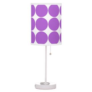 Polka dot dots purple white table lamp