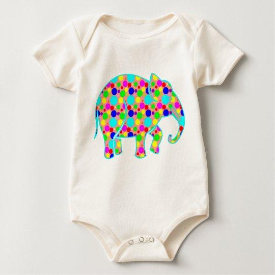 Polka Dot Elephant Elephant Baby Bodysuit