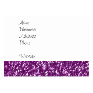 Polka Dot Elephant Sparkly Purple Girly Gifts Large Business Card