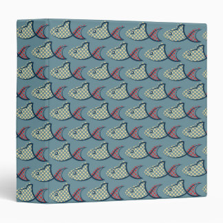 Polka Dot Fish Pattern Vinyl Binders