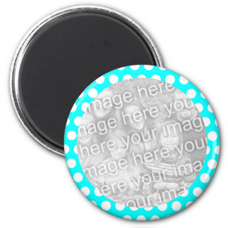 Polka Dot Frame Photo Magnet