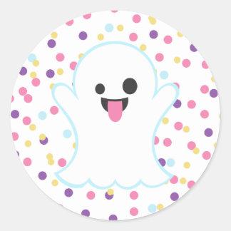 Polka Dot Ghost Emoji Stickers
