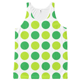 Polka Dot Greens All-Over-Print Tank Top